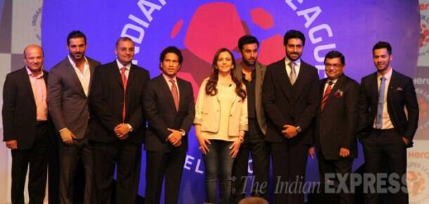 Sachin Tendulkar, Ranbir Kapoor, Abhishek Bachchan launch Indian Super League