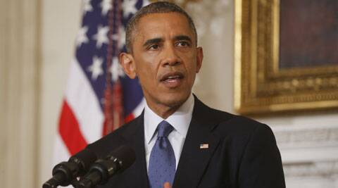 US President Barack Obama speaks about the situation in Iraq in Washington. (Source: AP)