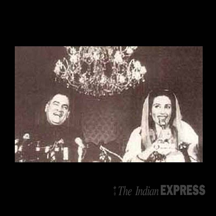 Benazir Bhutto with former Indian PM Rajiv Gandhi in Islamabad in 1989. (Source: Express archive)