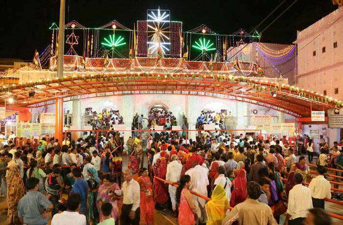 Moti Dungri Ganesh temple in Jaipur decorated with lights on the eve of Ganesh Chaturthi festival. (Source: PTI)