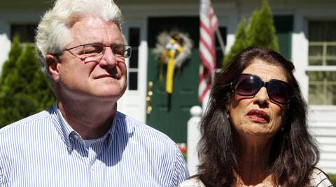 James Foley's parents Diane and John Foley talk to reporters after speaking with U.S. President Barack Obama. (Source: AP)