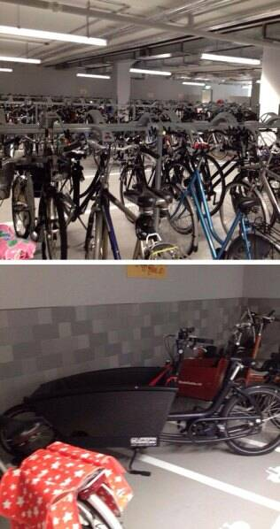Parking Garage (on the left) and Individual parking slots (on the right) in a big organization. (Source: Khyati Rajvanshi)