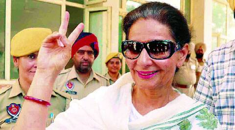 Perneet Kaur in Patiala Monday. (Source: Express photo by Harmeet Sodhi)