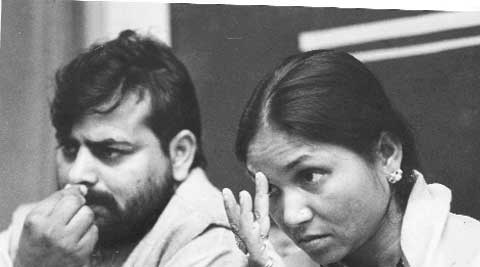 Phoolan Devi with husband Umaid Singh. Sentencing in the murder case is fixed for August 14.