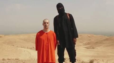 A frame from a video released by Islamic State militants. (Source: AP)