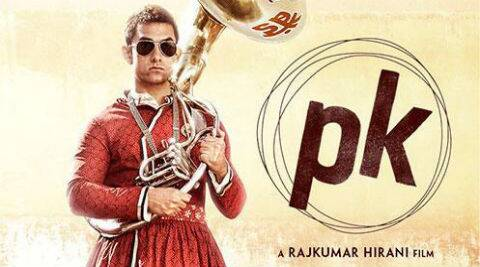 The new poster shows Aamir Khan wearing a red Gujrati Kurta and white pyjama.