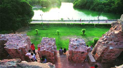 Revival of the Hauz Khas lake will be taken up under the project. (Source: Express photo by Oinam Anand)