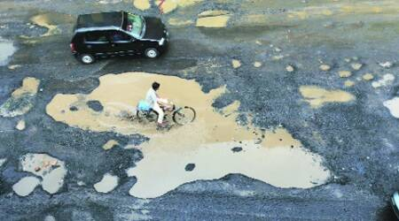 PAU students protest potholed roads on campus