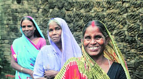 Women of EBCs in Chhapra; Nitish is a strong contender for this constituency's votes. ( Source: Express photo by Prashant Ravi )