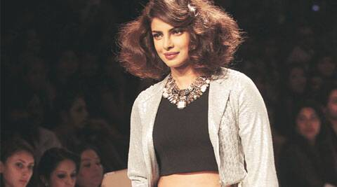 Priyanka Chopra was the showstopper for Varun Bahl. (source: EXpress photo by Pradip Das)