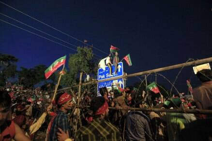 Islamabad on the edge as Imran Khan leads massive protest rally