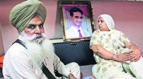 Murder victim Avtar Singh's parents in Ludhiana.