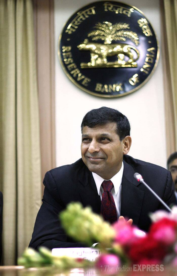 With poor monsoon and food inflation continuing to remain a worry, the Reserve Bank on Tuesday kept key policy rate unchanged, giving no respite either to borrowers or India Inc. (Source: Express photo by Pradip Das)