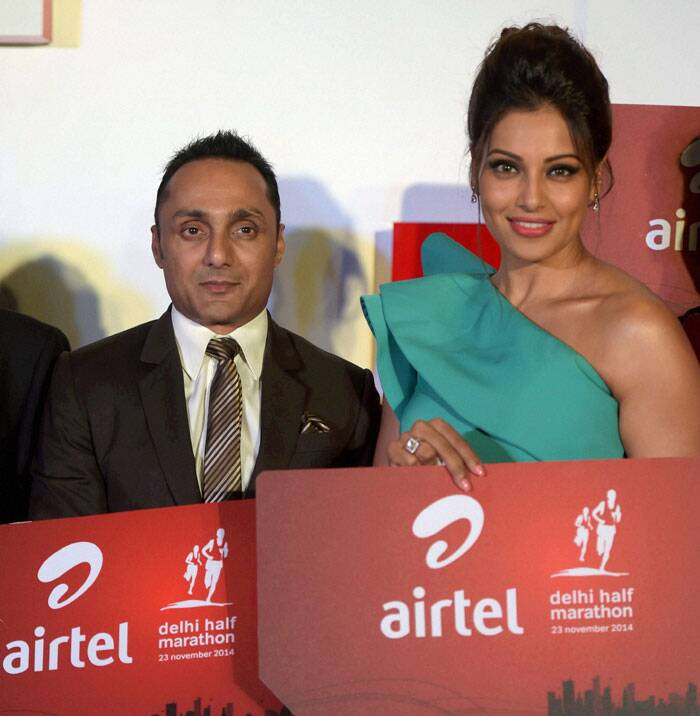 In the capital, actors Rahul Bose and Bipasha Basu launched registration forms for the upcoming half marathon. (Source: PTI)