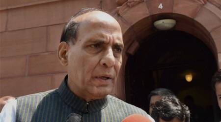 Rajnath Singh was tonight admitted in the  (AIIMS) with complaints of pain in his lower abdomen. (Source: PTI)