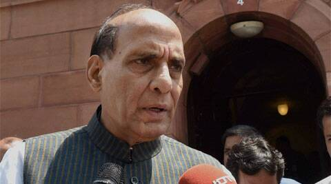 SP is running UP government and if the riots are increasing the state government is responsible for that, Rajnath said. (Source: PTI photo)