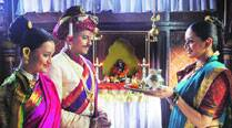Alok Rajwade , Parna Pethe and Shruti Marathe in Rama Madhav
