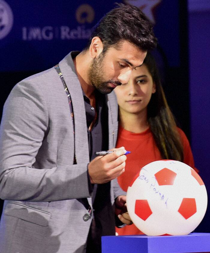 Always in the news for his rumoured link-up with Katrina Kaif, Ranbir Kapoor will be co-owning the Mumbai unit in the eight-city league that will be played during September-November. The ISL kicks off on October 12 in Kolkata, with the first match between Atletico Kolkata and Mumbai City at the Salt Lake Stadium. The final will be played on December 20. (Source: PTI)