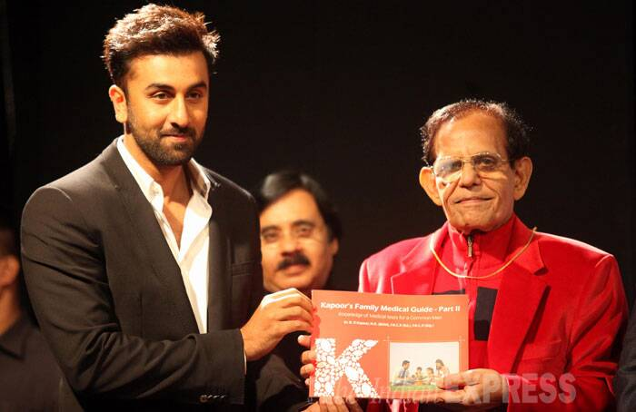 Ranbir smiles as he shows the book. (Source: Express photo by Prashant Nadkar)