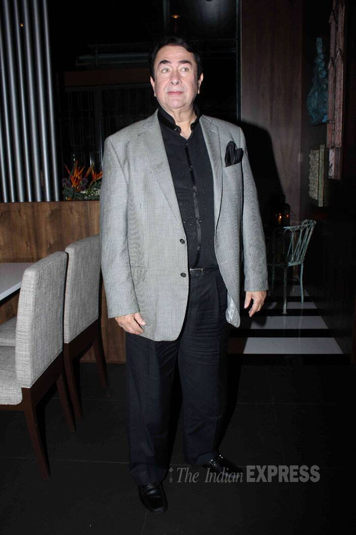 Armaan's 'mama' Randhir Kapoor was smart in formal attire for the night. (Source: Varinder Chawla)