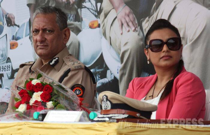 When reel cop Rani Mukerji met real cops