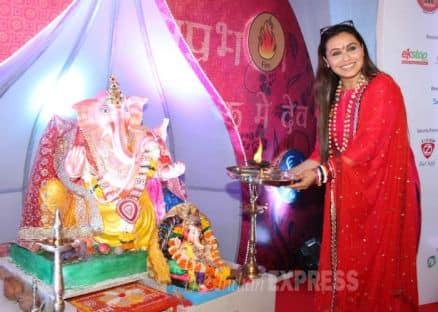 Rani Mukerji celebrates Ganpati
