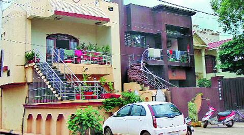 Leela Ram Bhojwani's house in Rajnandgaon.  (Source: IE photo)