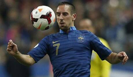 Franck Ribery will no longer don France colours. (Source: Reuters)