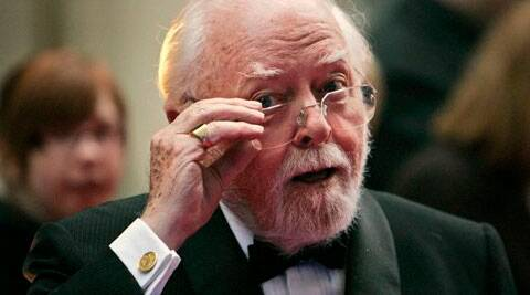 In this Wednesday, April 9, 2008 file photo, British actor and director Richard Attenborough arrives at the Galaxy British Book Awards in London. Acclaimed actor and Oscar-winning director Richard Attenborough, whose film career on both sides of the camera spanned 60 years, died on Sunday, Aug. 24, 2014. He was 90. (Source: AP)
