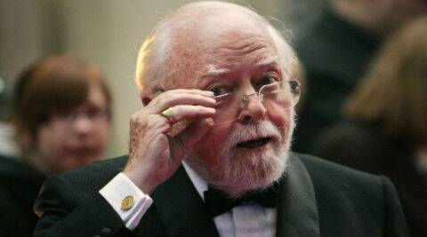 Richard Attenborough starred in Steven Spielberg's 'Jurassic Park' in 1993. (Source: AP)