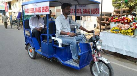 There are around 70,000 battery-operated rickshaws plying on roads in the national capital.