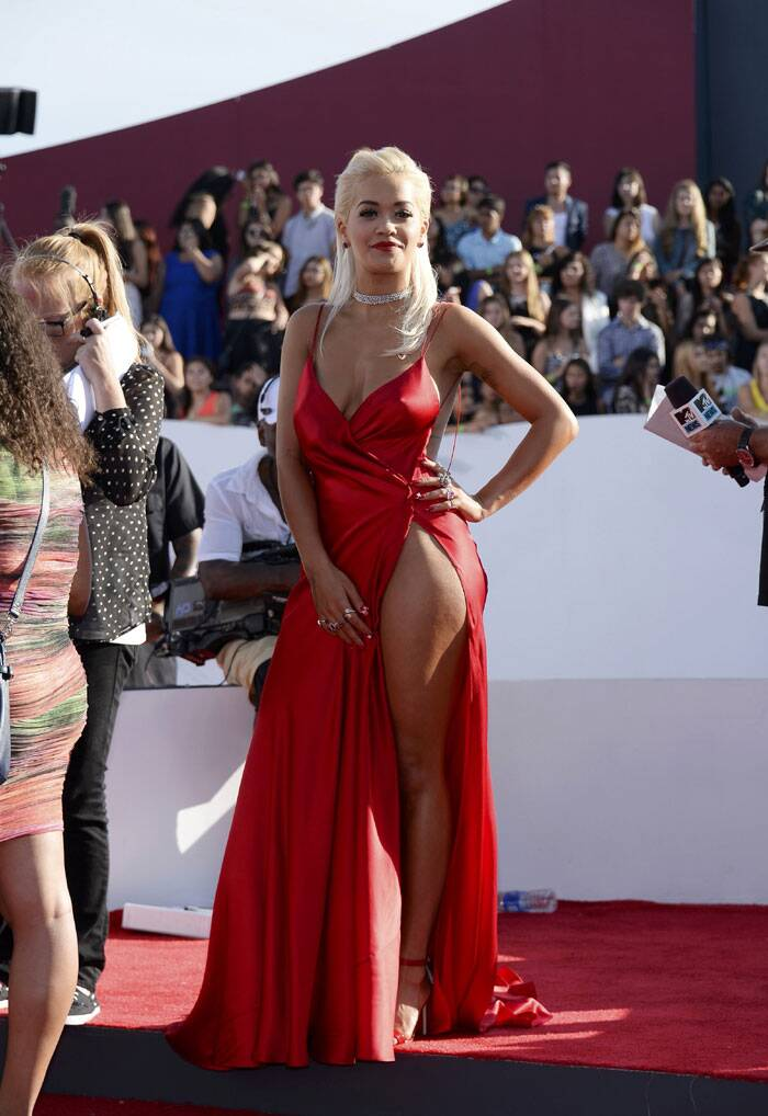 Rita Ora arrives at the 2014 MTV Music Video Awards in Inglewood, California. (Source: Reuters)