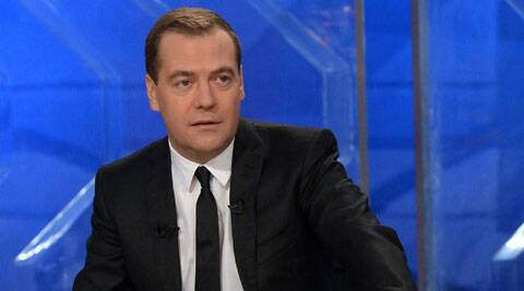 Russian Prime Minister Dmitry Medvedev. (Source: AP)