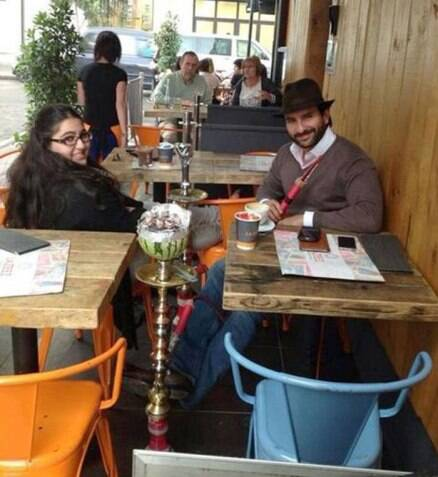 Saif Ali Khan's birthday date with daughter Sara