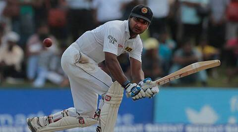 Sangakkara brought up his century shortly before the early tea break with a cut through point region off left-arm spinner Abdur Rehman for four. (Source: AP)