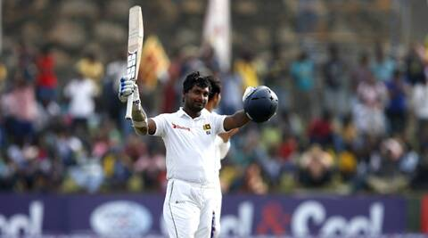 Kumar Sangakkara celebrates his 10th double century (Source: Reuters)