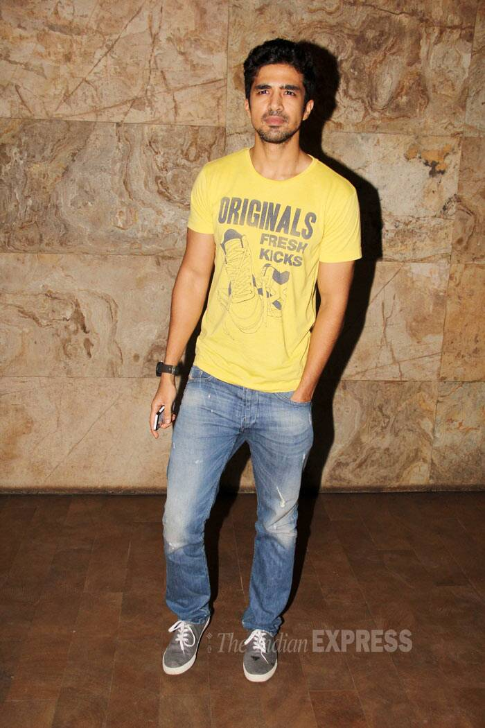 In another part of the city, 'Hawaa Hawaai' actor Saqib Saleem attended a film screening. (Source: Varinder Chawla)