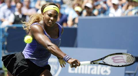 Serena Williams returns a shot from Samantha Stosur on day three of the Western and Southern Open tennis tournament at Linder Family Tennis Center (Source: USA Today Sports)
