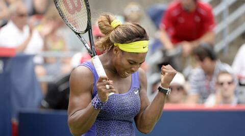 Serena kept her title defence on track rallying for a 4-6 7-5 7-5 win over Caroline Wozniacki. (Source: USA Today Sports)