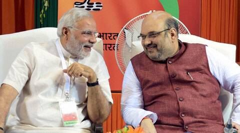 Prime Minister Narendra Modi said that he knew Amit Shah very well and was confident that BJP will succeed under its new president. (Source: PTI)