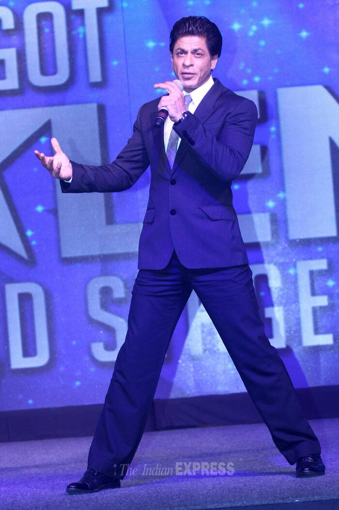 Shah Rukh has been roped in to host 'Got Talent World Stage Live' a first-of-its kind global on-ground extension of 'Got Talent' franchise premiering in India. The event will feature performances by 10 Indian and international talents each. (Source: Varinder Chawla)