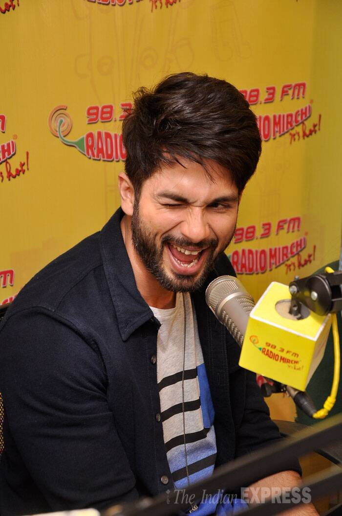 Shahid Kapoor on the other hand sported an impressive beard with a shirt and inner tee shirt. (Source: Varinder Chawla)