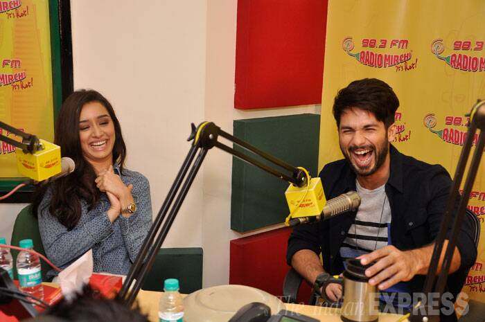 The duo, who will be seen together onscreen for the first time, seemed to be having fun. (Source: Varinder Chawla)