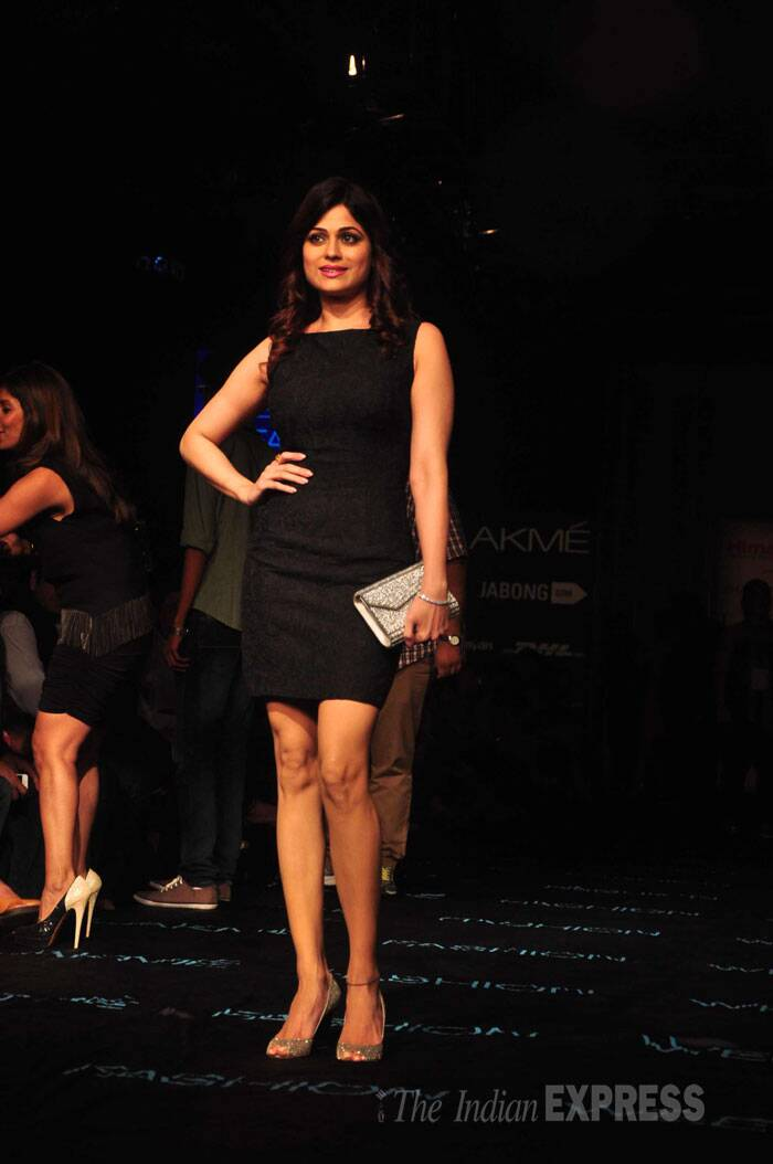 Shilpa Shetty's actress sister Shamita Shetty was in a LBD. (Source: Varinder Chawla)