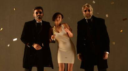 PHOTOS - First look: Dhanush, Akshara Haasan with Amitabh Bachchan in 'Shamitabh'