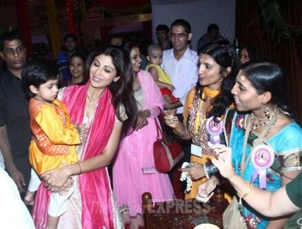 Shilpa Shetty, Raj Kundra celebrate Janmashtami with son Viaan