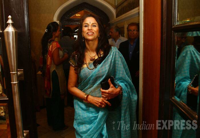 Columnist Shobha De at Express Adda. (Source: Express photo by Amit Chakravarty)
