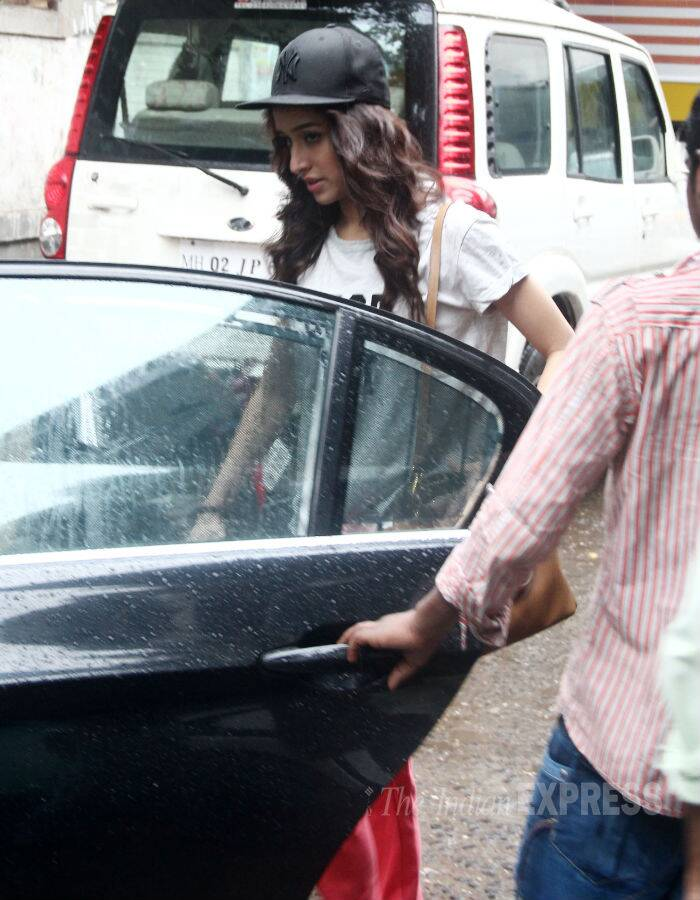 His co-star Shraddha Kapoor was also seen leaving in her own car. (Source: Varinder Chawla)