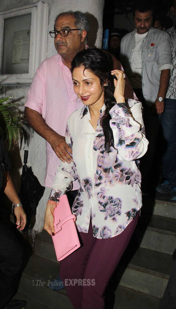 Sridevi was accompanied by husband Boney Kapoor. (Source: Varinder Chawla)