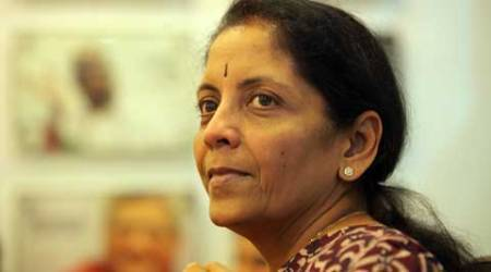Union Minister of State, Commerce (Independent Charge) Minister of State, Finance Nirmala Sitharaman at the Indian Express Idea exchange in New Delhi on August 21st 2014. (Source: Express photo by Ravi Kanojia)